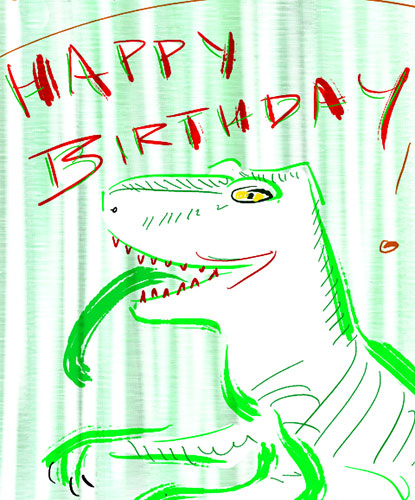 Beware Of The Birthdaysaurus!