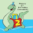 Grandson 2nd Birthday Dinosaur