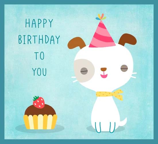 Send Your Ecard Happy Birthday Puppy