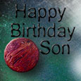 Happy Birthday To Son. Cool Planets!