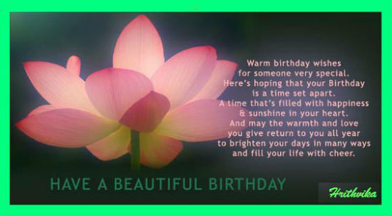 Have Beautiful Birthday.