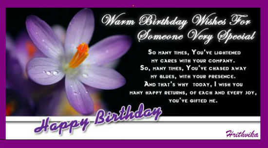 A Warm Birthday Wish Free Specials Ecards Greeting Cards 123