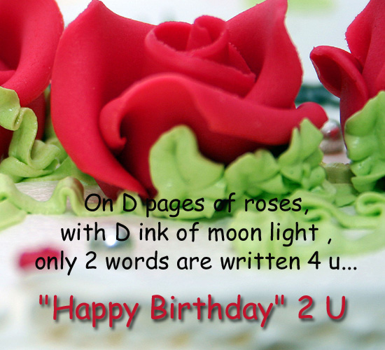 Wish Written On The Pages Of Roses... Free Birthday Wishes