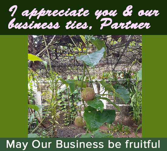 Appreciate Business Relationship.