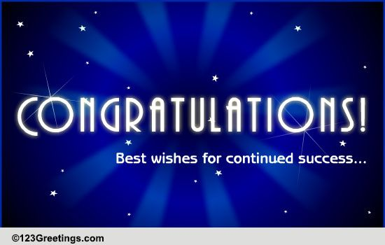 Congratulations Business & Workplace Cards, Free ... | 550 x 350 jpeg 44kB