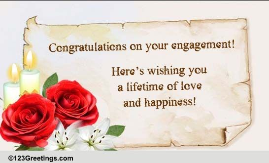 Congratulations Engagement Cards Free Congratulations Engagement