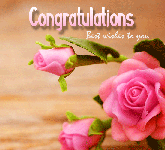 Congratulations, Rose Flower...