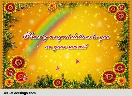 Hearty Congratulations To You! Free For Everyone eCards, Greeting Cards | 123 Greetings