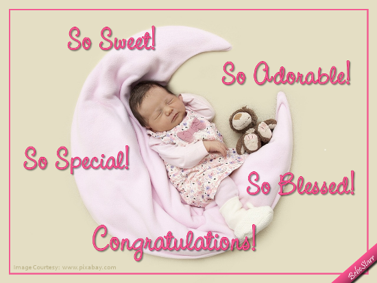 So Blessed Free New Baby Ecards Greeting Cards 123