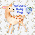 Say Welcome Baby Boy With A Cute Deer