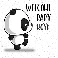 Panda Says Welcome Baby Boy.