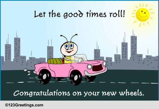 congratulations new car  u0026 license cards  free