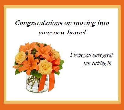 Congratulations On New Home.