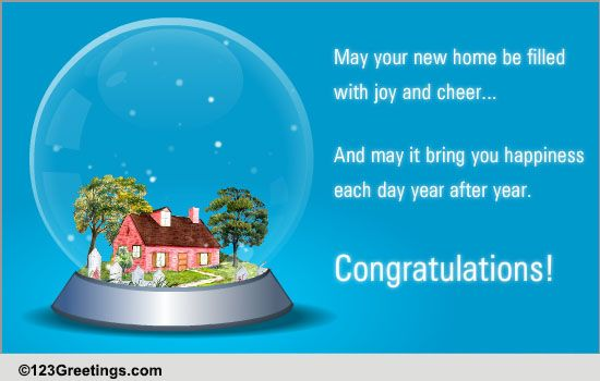 Congratulations New Home Cards Free Congratulations New