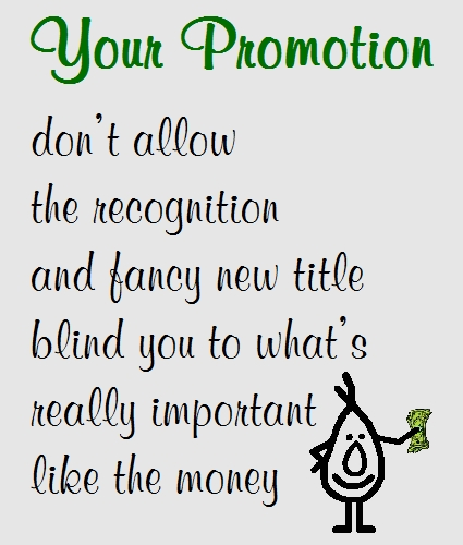 Your Promotion - A Funny Congrats Poem.