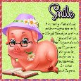 Cute Pig Smile Wishes