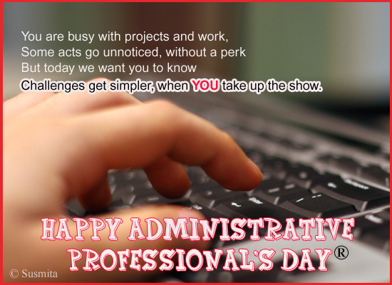 To A Special Admin Professional!