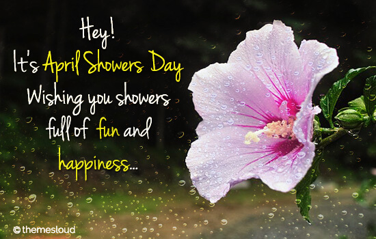 April Showers Full Of Fun & Happiness.