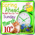 Daylight Savings Time, Spring Ahead!