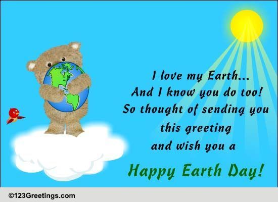 Earth Day Cards Free Wishes Greeting
