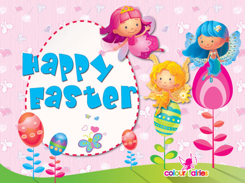Happy Colorful Easter.