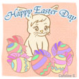 Happy Easter Day With Rabbit.