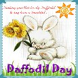 Bunny Greets You A Daffodil Day.
