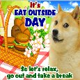 An Adorable Eat Outside Day Card