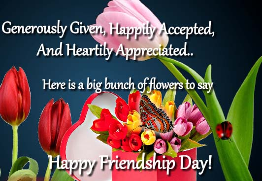 Send Friendship Flowers To Friends!