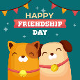 Happy Friendship Day Wishing Card.