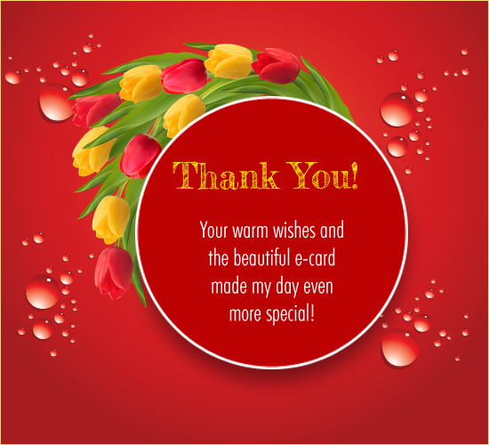 Thank You For Your Warm  Wishes!