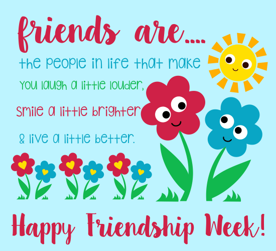 Send Friendship Week Card!