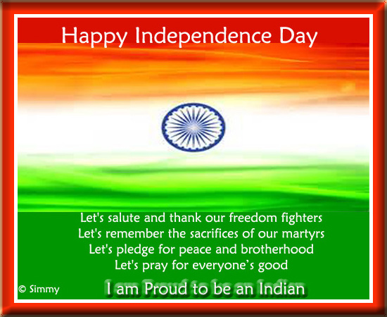 Heartiest Wishes On Independence Day.