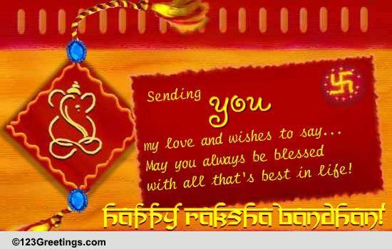 image about Raksha Bandhan Printable Cards identified as Raksha Bandhan Playing cards, Free of charge Raksha Bandhan Desires, Greeting