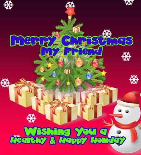 friendly christmas wish for a friend  free friends ecards