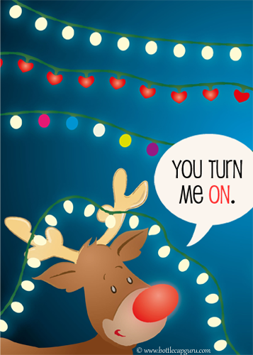 You Turn Me On,Naughty Christmas Card.