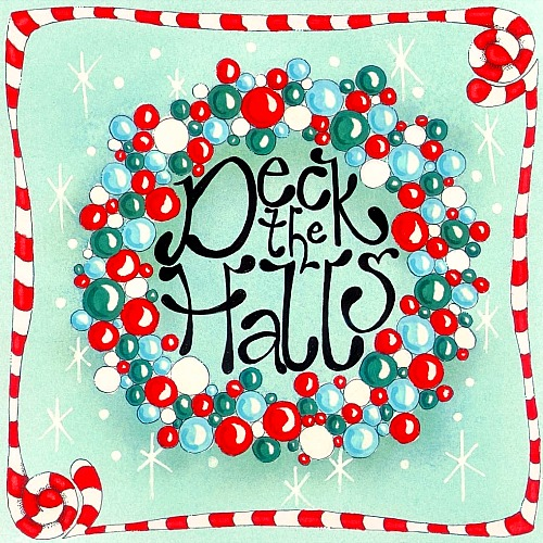 Deck The Halls Bauble Wreath.