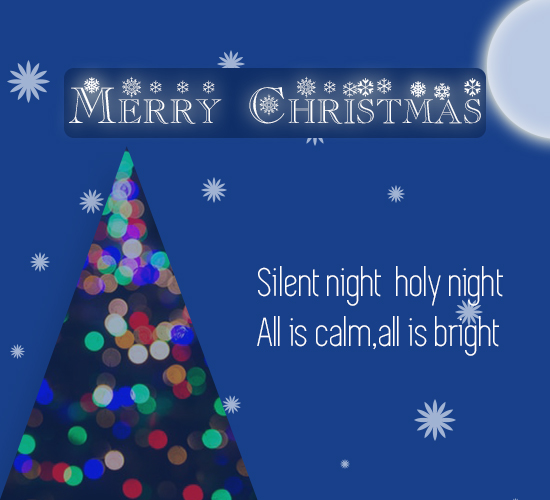Merry Christmas Silent Night...