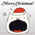Singing Christmas Cat.