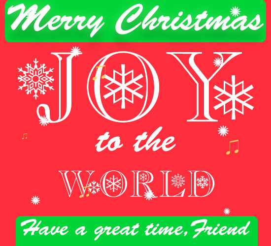 Merry Christmas, Joy To The World New.