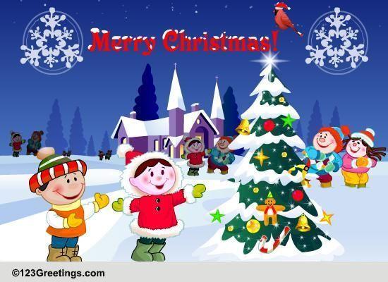Send Christmas Tree Light Day Greetings!