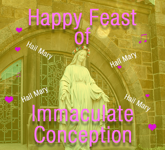 Immaculate Conception Hail Mary!