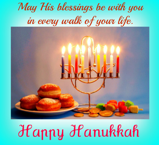 Blessings Of Hanukkah For You.