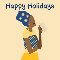 Happy Holidays Lady With Turban.