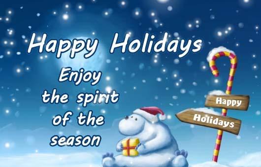 Send Happy Holiday Ecards!
