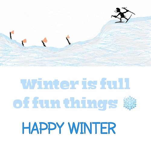 Winter And Fun Card.