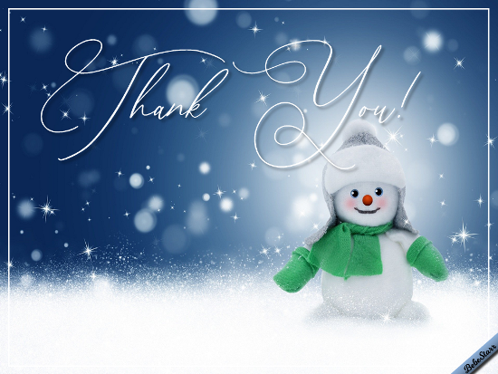 Snowman Says Thanks.