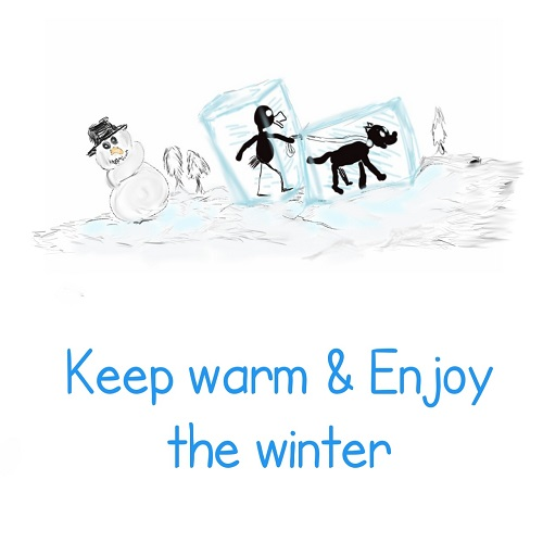 Happy Winter Card.