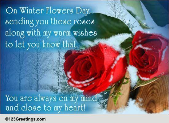 Send Winter Flowers Greetings!