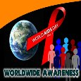 World Aids Awareness Card.